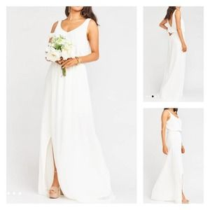 Show Me Your Mumu Kendall gown/maxi dress white M